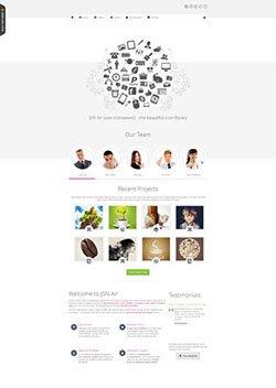 air responsive mobile web template