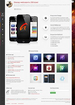 ares responsive mobile web template