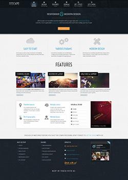 escape responsive mobile web template
