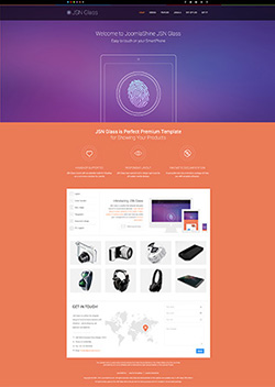 glass responsive mobile web template