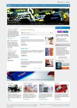 gruve responsive mobile web template