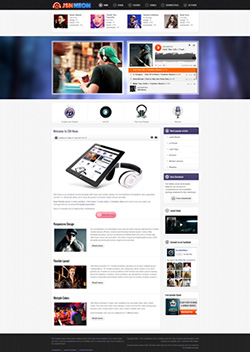 neon responsive mobile web template