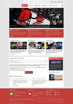 pixel responsive mobile web template